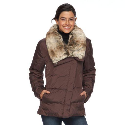 Women's Hemisphere Faux-Fur Collar Down Jacket