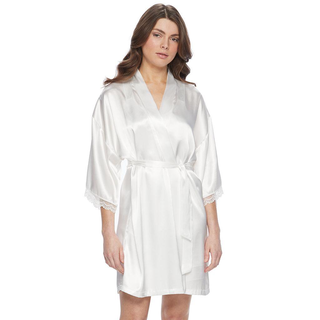 Women's Apt. 9® Bridal Satin Wrapper Robe