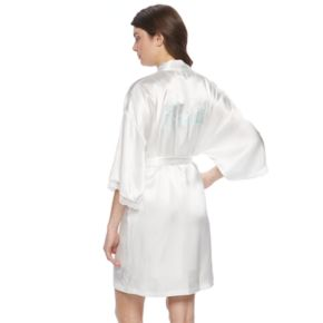 Women's Apt. 9® Bridal Satin Wrapper Robe