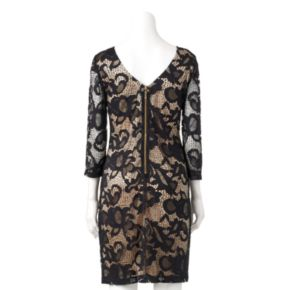 Women's Ronni Nicole Contrasting Lace Sheath Dress