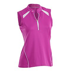 Plus Size Nancy Lopez Sporty Sleeveless Golf Polo
