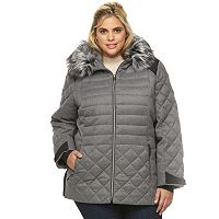 Plus Size ZeroXposur Sabrina Hooded Mixed-Media Puffer Jacket