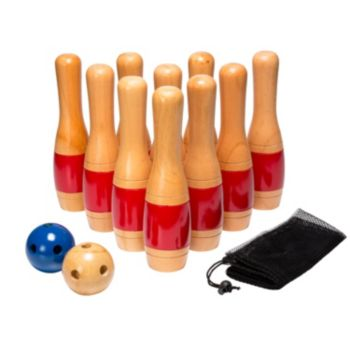 Hey! Play! 11-in. Wooden Lawn Bowling Set