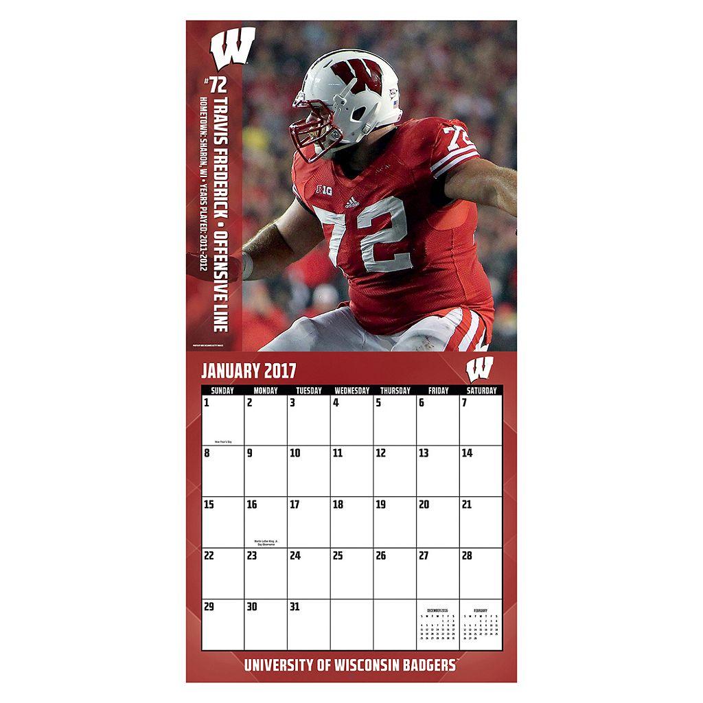 Wisconsin Badgers 2017 Sports Calendar