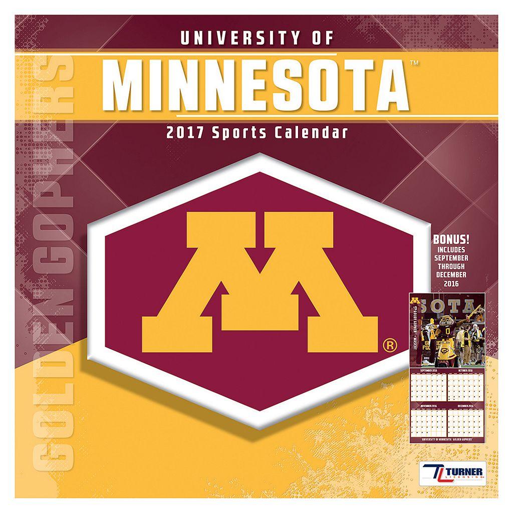 Minnesota Golden Gophers 2017 Sports Calendar