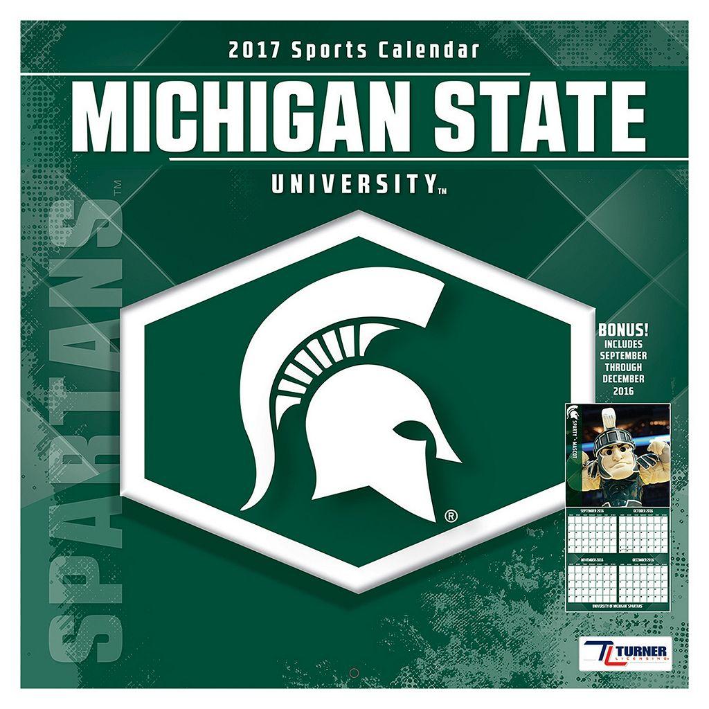 Michigan State Spartans 2017 Sports Calendar
