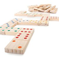 Hey! Play! 28 pc Giant Wooden Dominoes Set