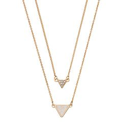 LC Lauren Conrad Layered Triangle Necklace