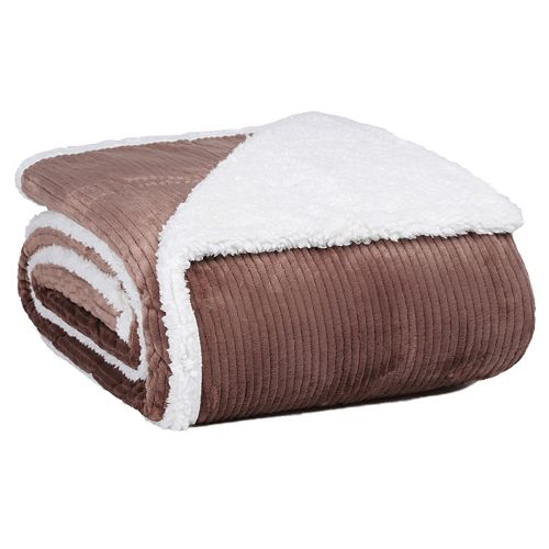 Better Living Dobby Velvety Plush Sherpa Blanket