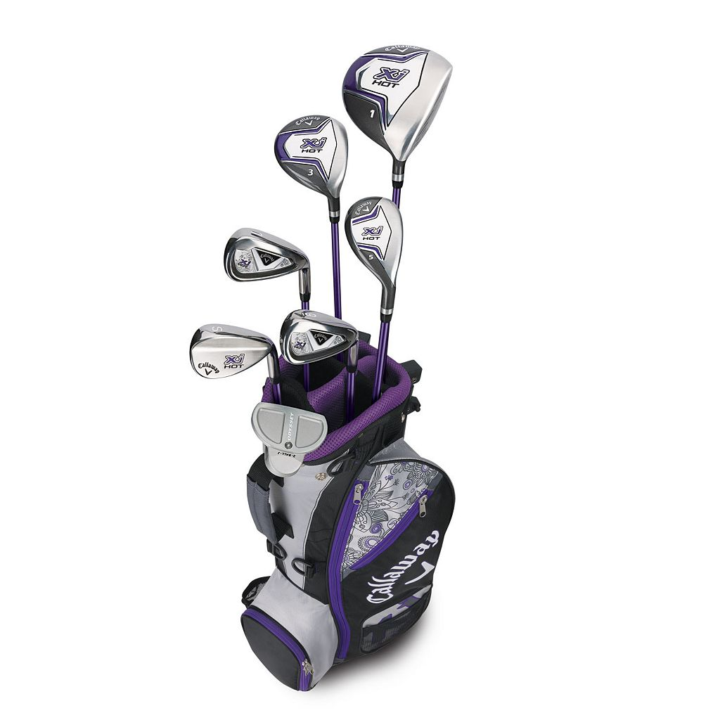 Girls 5-8 Callaway XJ Hot Flex Left Hand Golf Club & Stand Bag Set