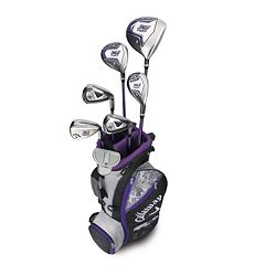 Girls 5-8 Callaway XJ Hot Flex Left Hand Golf Club & Stand Bag Set