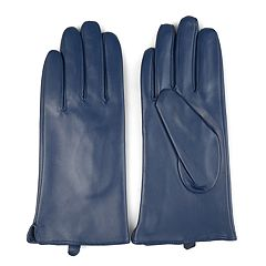 Women's Journee Collection Leather Lined Gloves