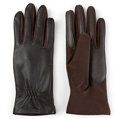Women's Journee Collection Suede Leather Tech Gloves