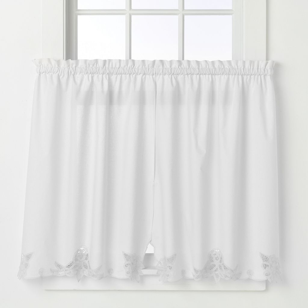 Battenburg Floral Tier Curtains