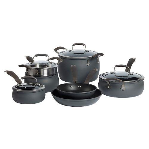 Epicurious 11-pc. Hard-Anodized Nonstick Aluminum Cookware Set
