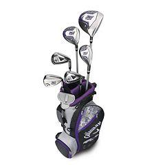 Girls 9-12 Callaway XJ Hot Flex Left Hand Golf Club & Stand Bag Set