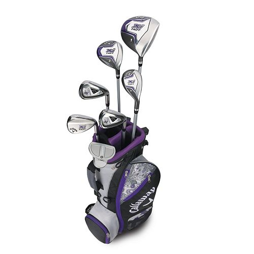 Girls 9-12 Callaway XJ Hot Flex Left Hand Golf Club & Stand Bag Set