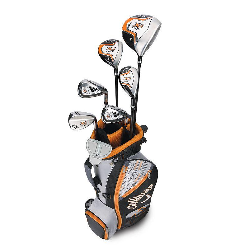 Callaway Xj Hot Junior Boys Golf Sets 3Wds/3Irns/Putter/Bag Right