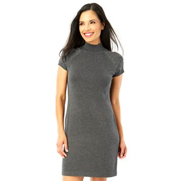 Women's AB Studio Studded Sweaterdress