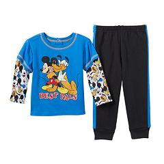 Disney's Mickey Mouse & Pluto Baby Boy Skater Tee & Pants Set