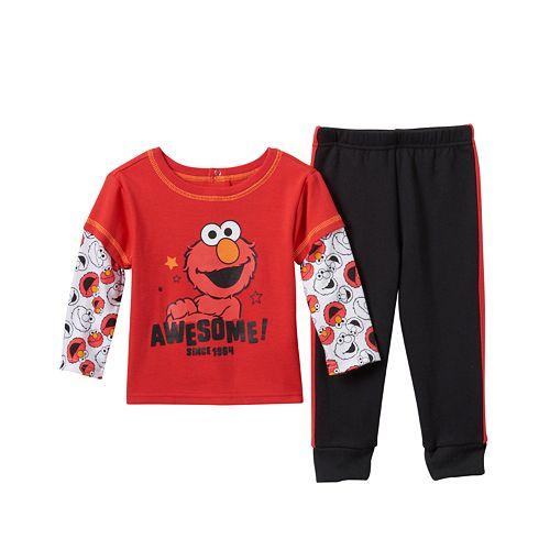 Baby Boy Sesame Street Elmo Skater Tee & Pants Set