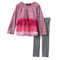Girls 4-6x Freestyle Revolution Lurex Bodice Dress & Shimmer Leggings Set