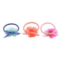Toddler Girl OshKosh B'gosh® 3 pkTulle Pom Ponytail Holders