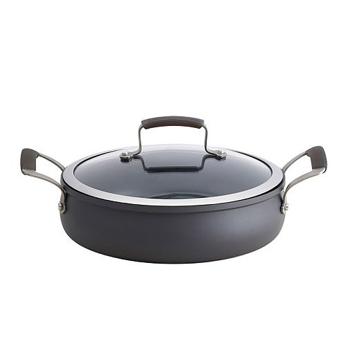 Epicurious 4-qt. Hard-Anodized Nonstick Aluminum Sauteuse Pan