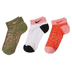 Girls 4-16 Nike 3 pkPerformance Low-Cut Socks
