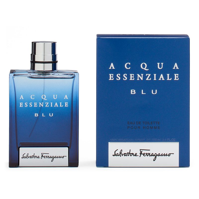 Salvatore Ferragamo Acqua Essential Blu Men's Cologne, Size: 1.7 Oz This men's Salvatore Ferragamo cologne will enchant you with fresh aromas from the sea and nature. FRAGRANCE NOTES Cardamom, bergamot, lemon, cedar, fine, lavender, cypriol, cascalone molecules, benzoin, tonka, and patchouli FRAGRANCE DETAILS Eau de toilette  Size: 1.7 Oz. Color: Multicolor. Gender: male. Age Group: adult.