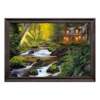 Reflective Art Creekside Comfort Framed Canvas Wall Art