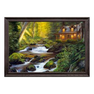 Reflective Art Creekside Comfort Framed Canvas Wall Art