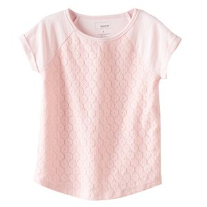 Girls 4-8 SONOMA Goods for Life™ Lace Raglan Tee
