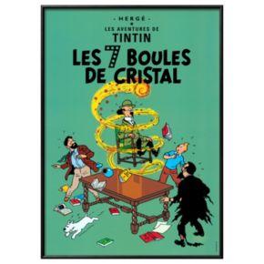 """Art.com """"Tintin Les 7 Boules de Cristal"""" Framed Wall Art"""