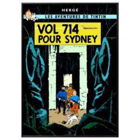"Art.com ""Tintin Vol 714 Pour Sydney"" Framed Wall Art"
