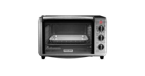 Black Amp Decker Dining In Countertop Convection Oven