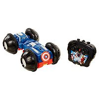 Marvel Avengers XVP Captain America & Iron Man Rollover Remote Control Rumbler Car