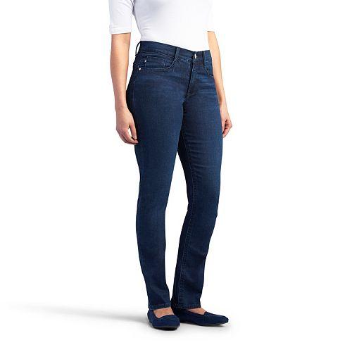 b68f56fa114e2 Women s Lee Easy Fit Slimming Straight-Leg Jeans