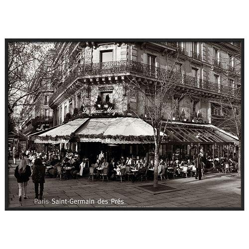 """Art.com """"Saint-Germain des Pres Paris"""" Framed Wall Art"""