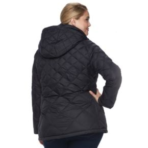 Plus Hemisphere Hooded Quilted Down Puffer Jacket