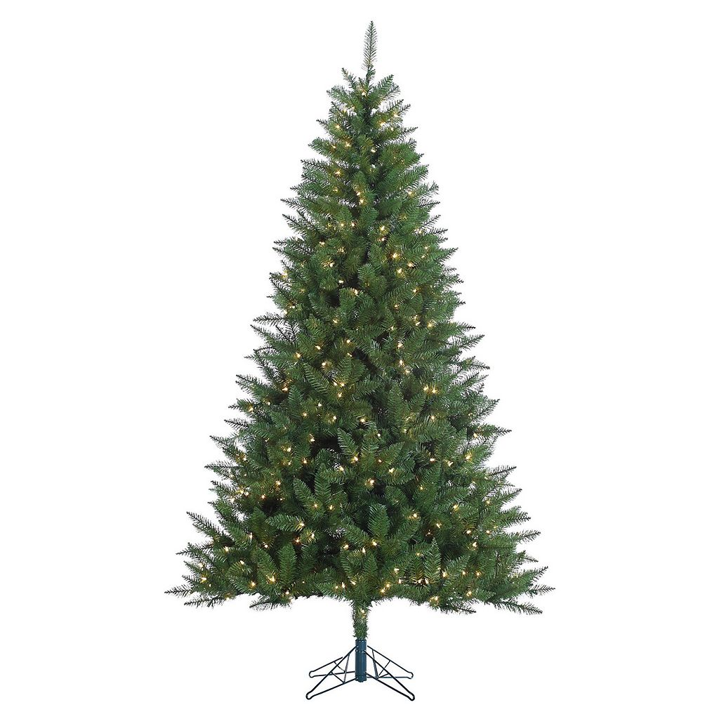 Vickerman 7.5-ft. Pre-Lit Clear Lincoln Fir Artificial Christmas Tree