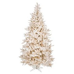 Vickerman 7.5-ft. Pre-Lit Flocked Vintage Fir Artificial Christmas Tree