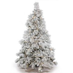 Vickerman 7.5-ft. Pre-Lit Flocked Alberta Artificial Christmas Tree