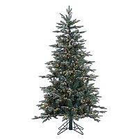 Vickerman 5-ft. Pre-Lit Crystal Frost Balsam Fir Artificial Christmas Tree