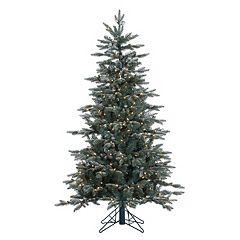 Vickerman 5-ft. Pre-Lit Crystal Frost Balsam Fir Artificial Christmas Tree