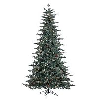 Vickerman 7.5-ft. Pre-Lit Crystal Frost Balsam Fir Artificial Christmas Tree