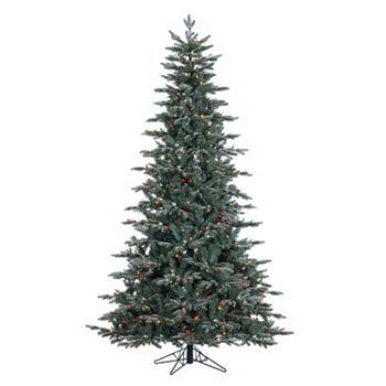 Pre Lit Crystal Frost Balsam Fir Artificial Christmas Tree