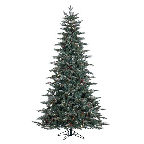 Vickerman 7.5-ft. Pre-Lit Crystal Frost Balsam Fir Artificial Christmas Tree