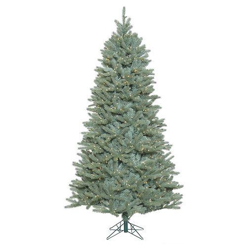Vickerman 7.5-ft. Pre-Lit Slim Colorado Blue Spruce Tree Artificial Christmas Tree
