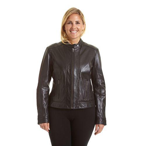 Plus Size Excelled Leather Scuba Jacket
